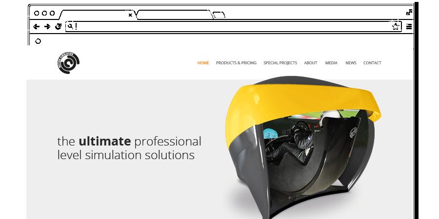 Motion simulation website design